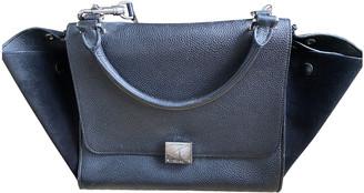 Celine Trapeze Black Leather Handbags