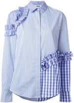 MSGM patchwork ruffle shirt