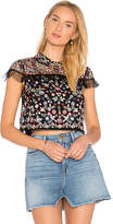 Needle & Thread Posy Top in Black. - size 0 (also in 2,4)
