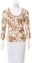 Blumarine Metallic Printed Top