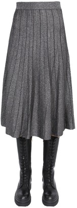 MICHAEL Michael Kors Pleated Metallic Midi Skirt