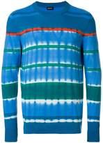 Diesel tie-dye stripe sweater