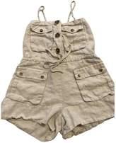 Shona Joy Ecru Linen Jumpsuit for Women