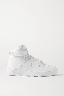 Nike Air Force 1 Leather High-top Sneakers - White