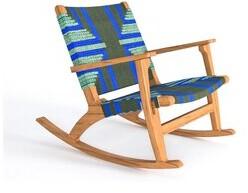 Thumbnail for your product : Masaya & Co Rocking Chair Fabric: Teak/Emerald Coast