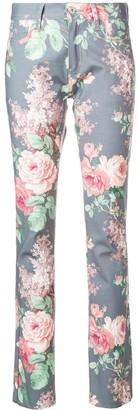 Junya Watanabe Floral Print Skinny Jeans