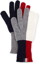 Thom Browne Wool Funmix Intarsia Knit Gloves