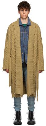 Alanui Tan Knitted Fisherman Coat