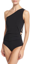 La Petite Robe by Chiara Boni Teti One-Shoulder Cutout Swimsuit