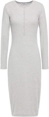 Ninety Percent Metallic Ribbed Cotton-blend Jersey Dress