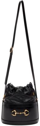 Gucci Black 1955 Horsebit Bucket Bag