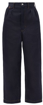 Junya Watanabe Wide-leg Cropped Jeans - Indigo