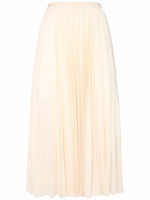 Max Mara Pleated Viscose Jersey Midi Skirt
