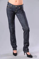 Tight Straight Leg Jeans in Rinse Stretch