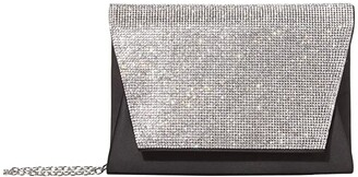 Jessica McClintock Brandi Flap (Black) Clutch Handbags