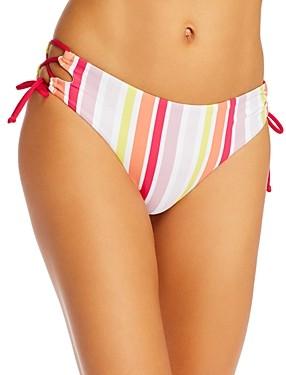 Roxy Beach Classics Striped Bikini Bottoms