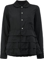 Comme des Garcons tiered hem long sleeve shirt - women - Polyester - M