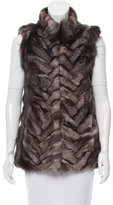Pologeorgis Grey Fox Fur Vest