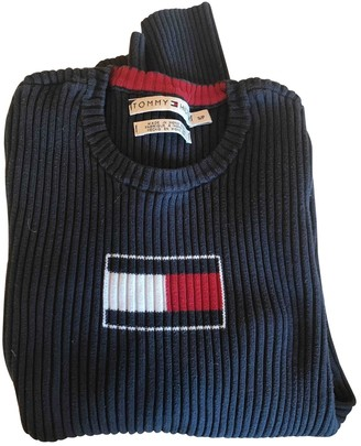 Tommy Hilfiger Navy Cotton Knitwear for Women Vintage