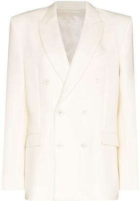 Wardrobe NYC Double-Breasted Wool Blazer