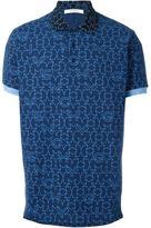Givenchy geometric star print polo shirt