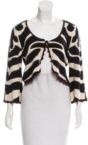 Temperley London Cashmere-Blend Patterned Cardigan
