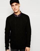 Esprit Cable Knit Jumper - Black
