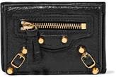 Balenciaga Classic Mini Textured-leather Wallet - Black
