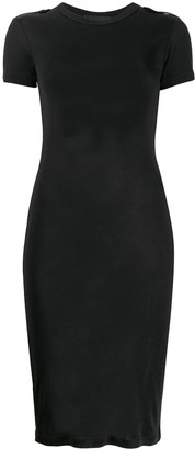 Helmut Lang silk T-shirt midi dress