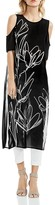 Vince Camuto Abstract Print Cold-Shoulder Tunic