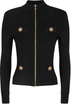 Balmain Black Stretch-knit Jacket