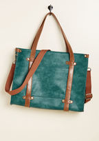 ModCloth Camp Director Zipped Tote in Teal