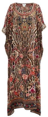 Camilla Liv A Little-print Silk Maxi Kaftan Dress - Animal