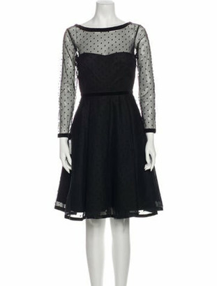 Marc by Marc Jacobs Polka Dot Tulle Knee-Length Dress w/ Tags Black