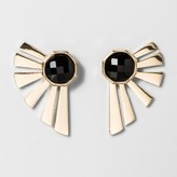 BaubleBar SUGARFIX by Graphic Gold Ear Jackets - Black/Gold
