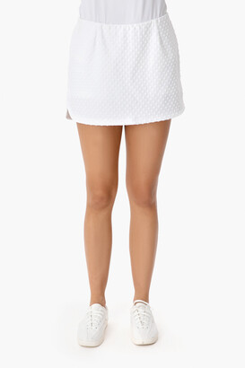 Boast White Dotted Tennis Skirt