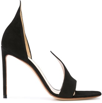 Francesco Russo Suede Cut Pumps