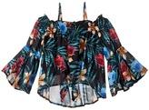 Ella Moss Gabby Peasant Printed Top Girl's Clothing
