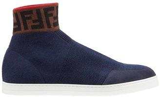 Fendi Knit High-Top Sneakers