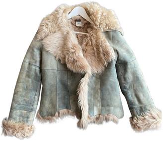 Plein Sud Jeans Green Shearling Leather jackets