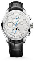 Baume & Mercier Clifton 10278 Chronograph & Complete Calendar Steel & Alligator Strap Watch