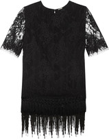 ADAM by Adam Lippes Layered fringed Chantilly lace top