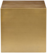 """Pangea Home Spencer Brass Side Table, 16""""x16"""""""