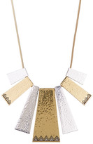 House Of Harlow Engraved Accent Geometric Shape Frontal Statement Necklace