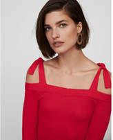 Express tie shoulder thong bodysuit