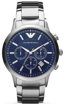 Emporio Armani Quartz Chronograph Stainless Steel Watch, 43 mm