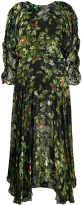 Preen by Thornton Bregazzi Flared Floral-Print Dress