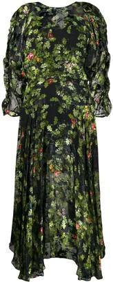 Preen by Thornton Bregazzi flared floral-print dress
