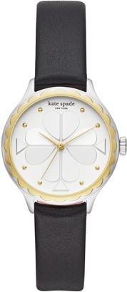 Kate Spade Rosebank Scallop Leather Strap Watch, 32mm