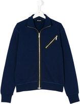DSQUARED2 zipped sweatshirt - kids - Cotton - 14 yrs